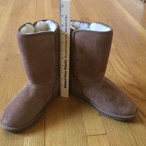 Clark's Tan Mid-Height Boots, Size 7